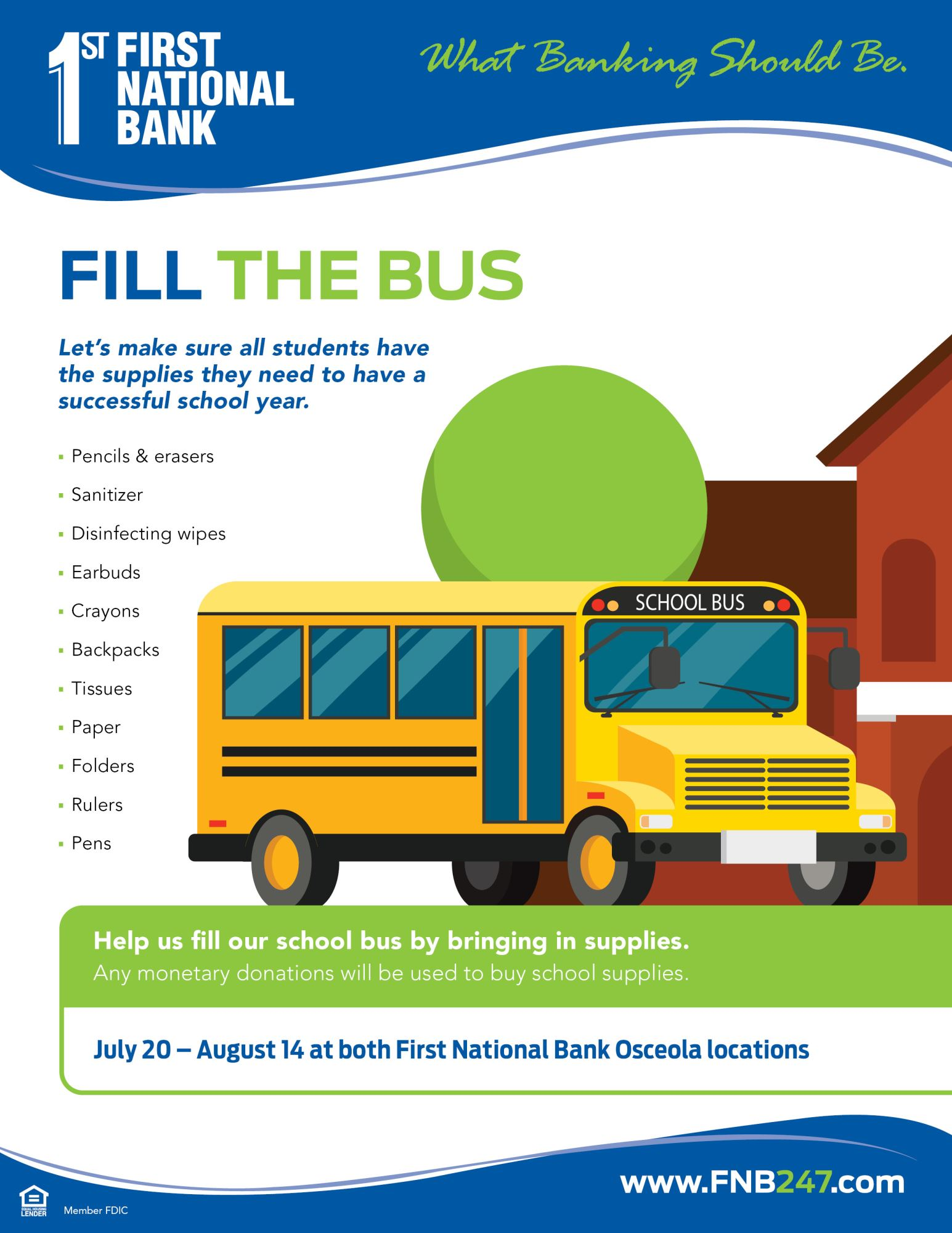 Fill the Bus flyer