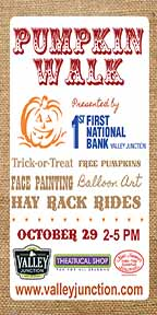 Valley Junction Pumpkin Walk Invite