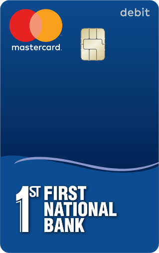 Image of New First National Bank debit card