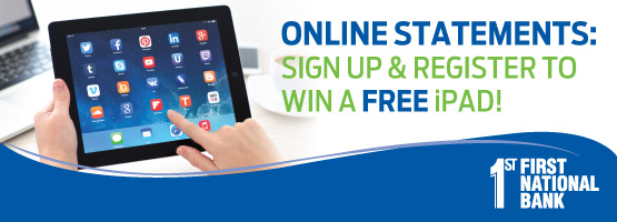 Sign up for Online Statements!