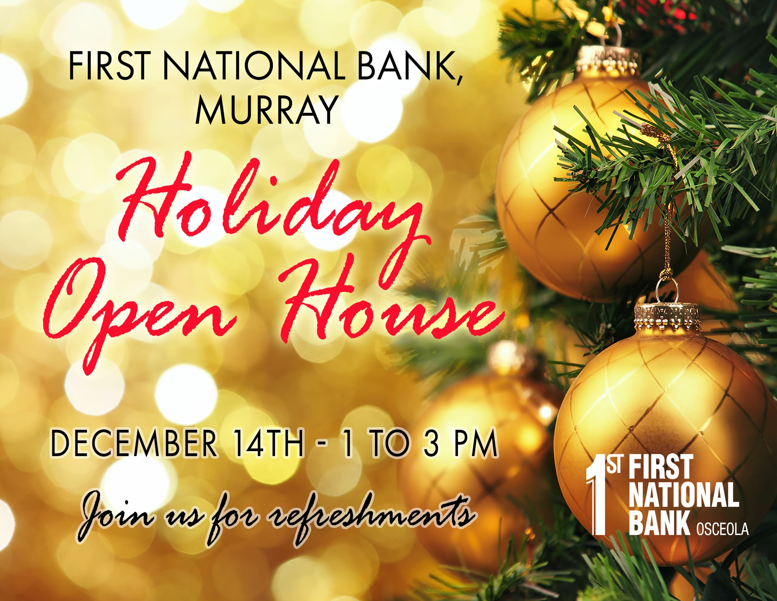 Murray Holiday Open House First National Bank