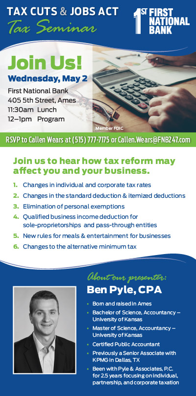 business tax seminar invite