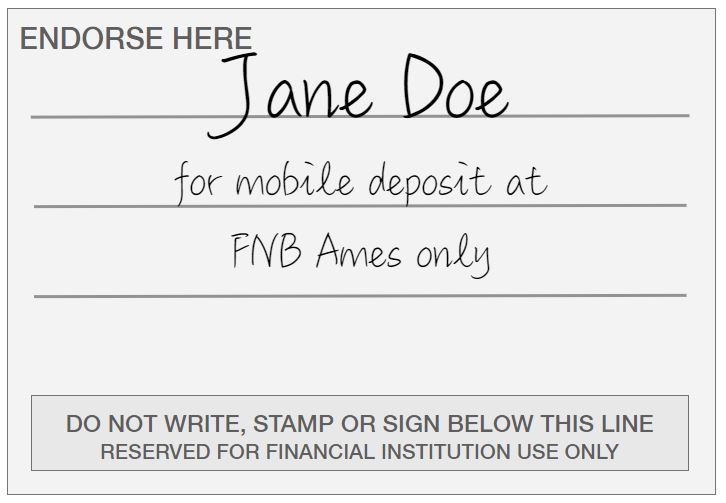 Mobile Deposit - First National Bank